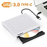 External DVD Drive Kingbox Portable USB 3.0 Type-C CD/DVD Dual Port Burner Drive