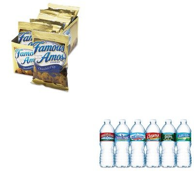 kitkeb98067nle101243-value-kit-kelloggs-famous-amos-cookies-keb98067-and-nestle-bottled-spring-water