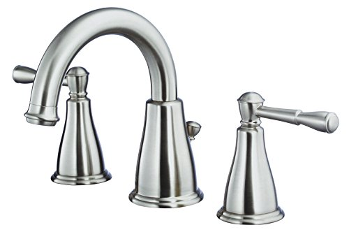(Danze D304115BN Eastham Two Handle Widespread Lavatory Faucet, Brushed Nickel)