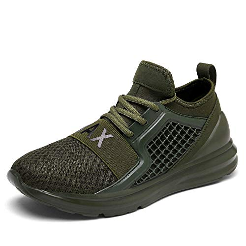 Men Running Shoes Sport Outdoor Walking Shoes Women Sneakers Mesh Breathable Summer Shoes Plus Large Size 36-48,Green,8.5 ()