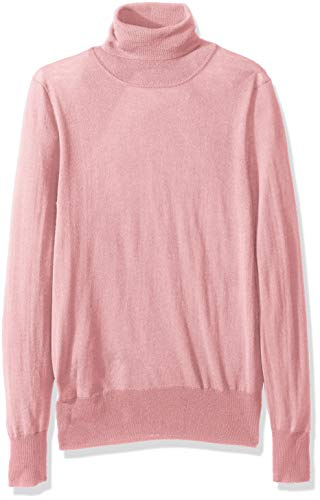 (J.Crew Mercantile Women's Merino Turtleneck Sweater, Pale Rose, XXL)