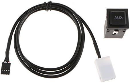 KESOTO 高効率カーミュージック配線補助ケーブル39インチ長+スイッチソケット