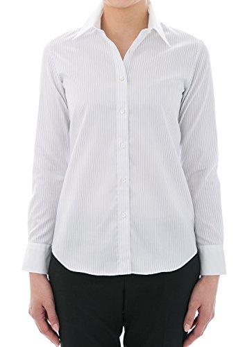 Blanc Boutons Chemisier amp; Avec Shirts Col Leonis 001 Classique Chemise Favorites Femme wCvtXpnq