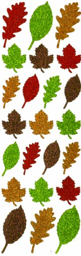 Martha Stewart Crafts Stickers, Glittered - Leaf Glittered