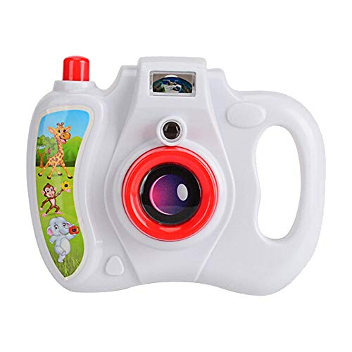 (CMrtew Camera Toy Projection Simulation Sound Camera Children Educational Gift Photo Decoration Toys for Baby Kids Gifts (White,)