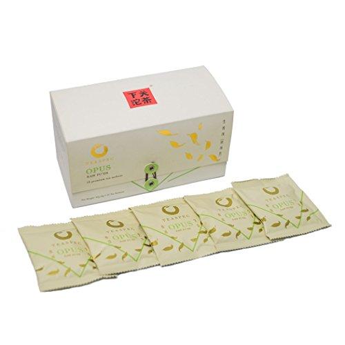 TEASPEC Opus Green Pu erh Tea - Puerh Loose Leaf - Best Chinese Tea - 15 Sachets (3 grams per serving) ()