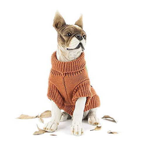 Albabara Dog Sweater Halloween Pumpkin Pet Sweaters Dog Knitwear, Dog Apparel, Pet Sweatshirt for Halloween Holiday Party Cat Puppy -