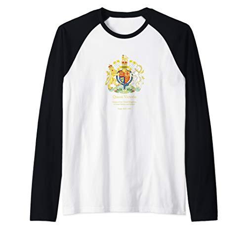 (Queen Victoria, Royal Coat of Arms, British Monarchy  Raglan Baseball Tee)