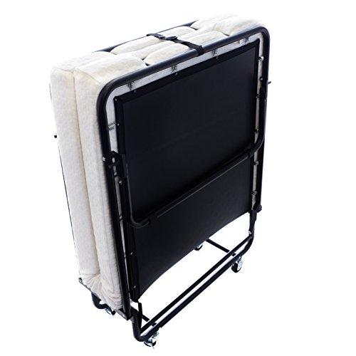 Layout 75x31.5-Inch Metal Folding Bed Frame with Memory Foam Mattress (Folding Layout)