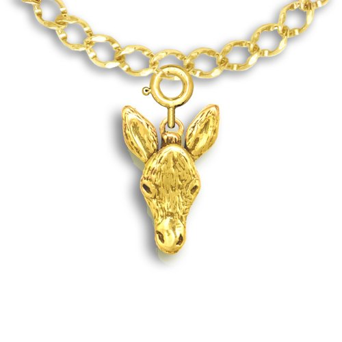 - 14k Gold Donkey Charm for Charm Bracelet by The Magic Zoo