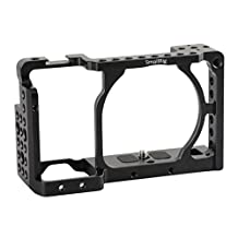 """[Update] SmallRig Camera Cage for Sony A6000 A6300 ILCE-6000 ILCE-6300 NEX7 with 1/4"""" Thread for Base Plate, Top Handle, EVF Mount, Tripod Plate, Chesse Plate - 1661"""