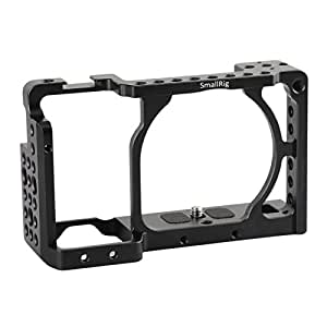 "[Update] SmallRig Camera Cage for Sony A6000 A6300 ILCE-6000 ILCE-6300 NEX7 with 1/4"" Thread for Base Plate, Top Handle, EVF Mount, Tripod Plate, Cheese Plate - 1661"