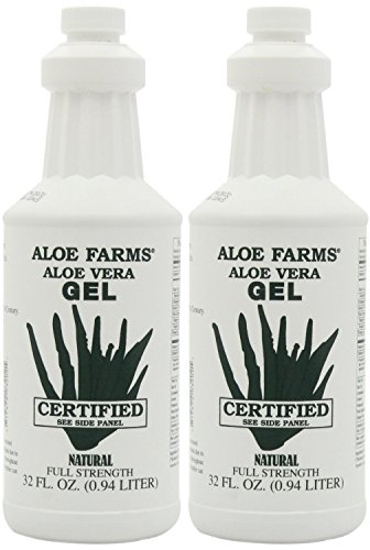 Aloe Farms Aloe Vera Gel Organic, 32-Ounce Bottle (Pack of 2) ()