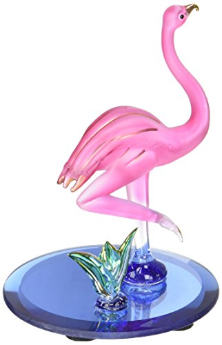 StealStreet SS-UG-CR-3052 Height Flamingo Pink Crystal Glass Figurine Decoration, 3.5