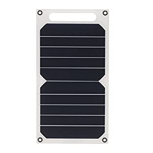 41uI2vUv1PL. SS300  - Docooler Solar Charger 10W Portable Ultra Thin Monocrystalline Silicon Solar Panel 5V USB Ports for iPhone 6s/6/Plus iPad Galaxy S6/S7/Edge/ Nexus 5X/6P High Effiency Outdoor Activities Lighting Use