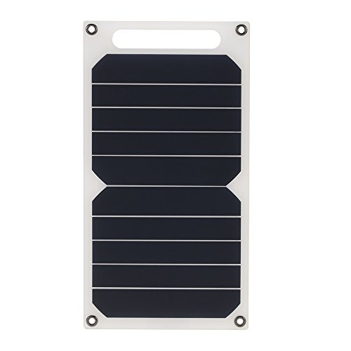 41uI2vUv1PL - Docooler Solar Charger 10W Portable Ultra Thin Monocrystalline Silicon Solar Panel 5V USB Ports for iPhone 6s/6/Plus iPad Galaxy S6/S7/Edge/ Nexus 5X/6P High Effiency Outdoor Activities Lighting Use