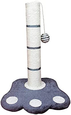 SAHZ - Barra de rascar Vertical para Gatos con Base de Pata/Poste ...