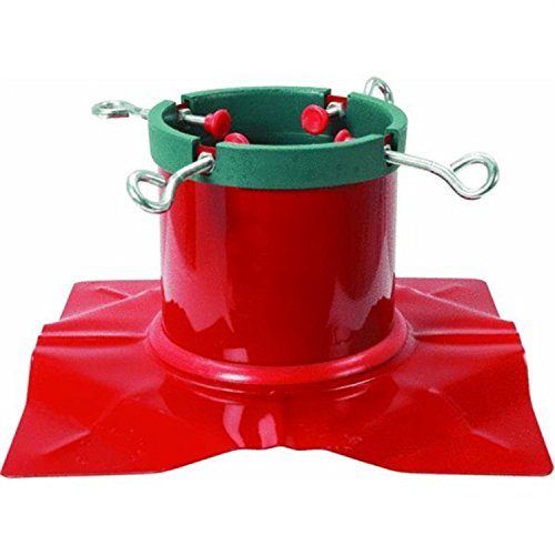 Santa's Solution Extreme Heavy Duty Red Steel Christmas Tree Stand - For Live Trees Up To 9' Tall by Santa's Solution