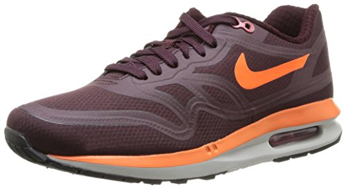 Nike Mens Air Max Lunar1 Wr Hardloopschoen Diep Bordeaux Rood / Rood Licht As Grijs