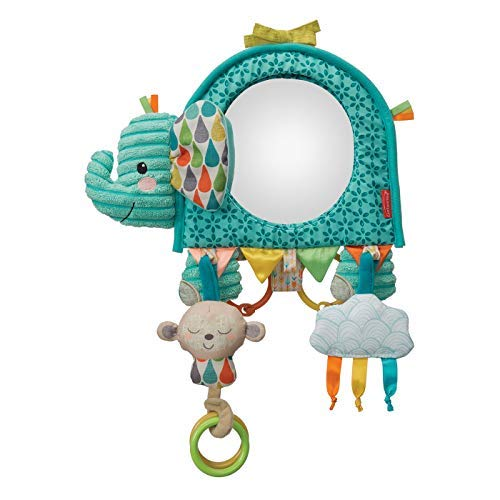 Infantino Baby Going GaGa Elephant Mirror - Teal
