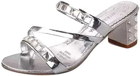 5c53429f242fc Shopping Silver - Slippers - Shoes - Women - Clothing, Shoes ...