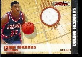 2006-07-Topps-Full-Court-Isiah-Thomas-Court-Records-Jersey-190499-Detroit-Pistons-Basketball-Card-Mint-Condition-In-Protective-ScrewDown-Case