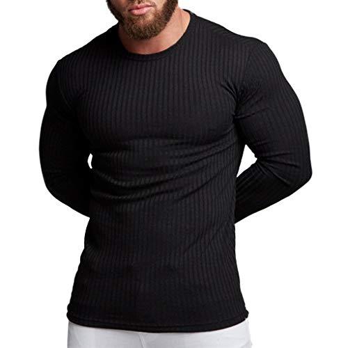 WOCACHI Pullover for Mens, Men's Autumn Winter Casual