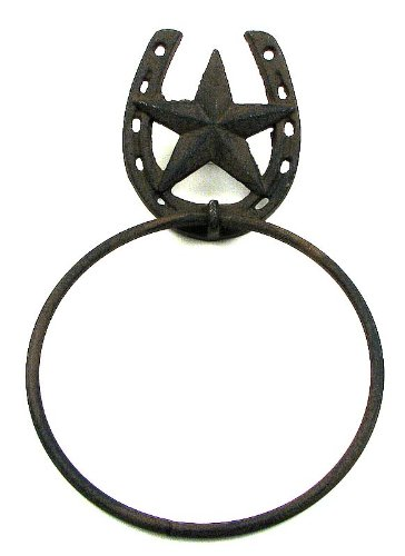 SkuBros Star With Horseshoe Towel Ring