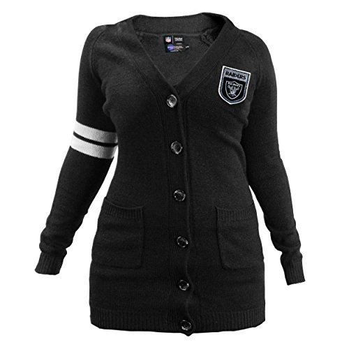 Womens Nfl Fashion Jersey - NFL Oakland Raiders Varsity Cardigan, Small/Medium