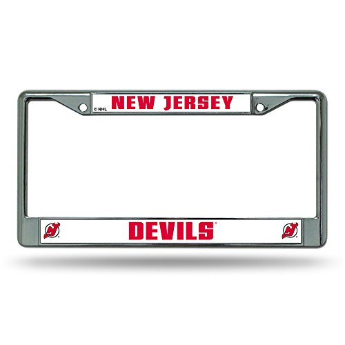 Rico Industries NHL New Jersey Devils Standard Chrome License Plate Frame