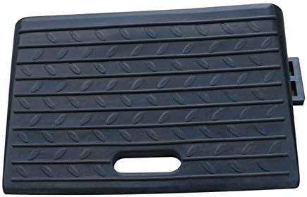 段差 スロープ スロープスロープ上り坂ステップパッドスリッパホイールロケータスピード沿い12センチメートルハイポータブル・ロード カーポート・車庫アクセサリ (色 : Black, Size : 50x25x12cm)