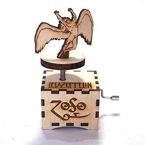 Led Zeppelin music box - Stairway to heaven - Personalized gift - Hand cranked mechanism