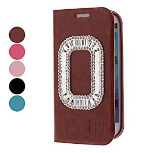LIMME-PU Leather Case with Rhinestone for Samsung Galaxy S3 I9300 (Assorted Colors) , Black