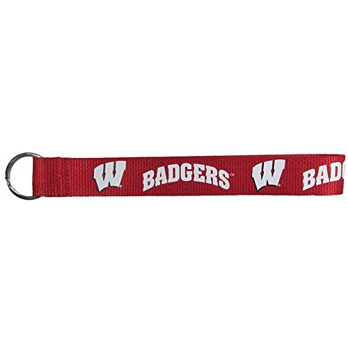 (Siskiyou NCAA Wisconsin Badgers Lanyard Key Chain, Wristlet)