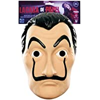 La Casa De Papel Offizielle Maske, Kunststoff (Schwarz / Weiß, Standard)