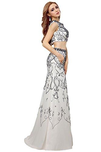 Promgirl House Damen 2015 Vintage Perlestickerei Etui Abendkleider ...
