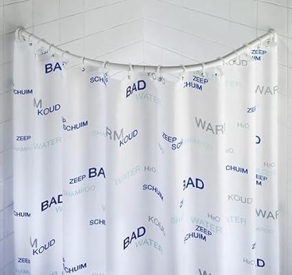 Alluminio Asta Ad Arco Per Tenda Doccia 90x90 Cm Bastone Ovale