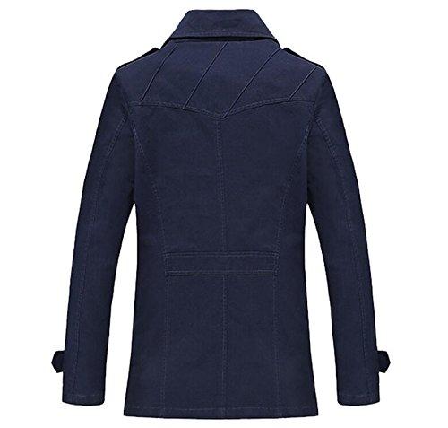 Ragazzi Signori Trench Giacca Con Manica A Vogstyle Stile Cappotto Pelliccia Lunga Uomo Blu 1 IEnq5
