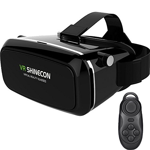 Deruicent 3D Vr Virtual Reality Headset for iPhone 7/ 7 Plus/6s/6 plus/6/5, Samsung Galaxy, Huawei, Google, Moto & all Smartphone