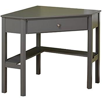 Amazon Com Leick Corner Computer And Writing Desk Black