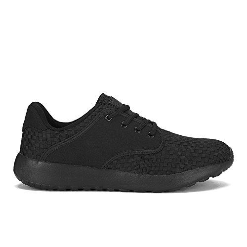 CROSSHATCH Herren Sneaker Runner Schwarz