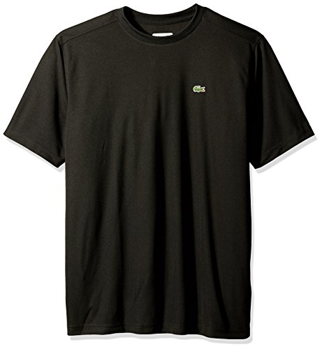 Lacoste Men's Tennis Short Sleeve T-Shirt, Black, Size (Lacoste T-shirt Short)