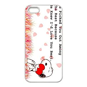 Case for iPhone 5s,Cover for iPhone 5s,Case for iPhone 5,Hard Case for iPhone 5s,Snoopy Design TPU Hard Case for Apple iPhone 5 5S
