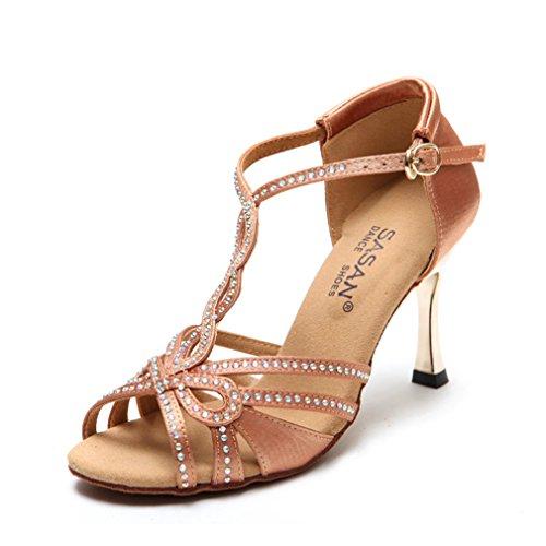 Haut de BYLE Danse Danse de Modern'Jazz Samba Sandales femelle Chaussures en Talon Adulte Chaussures Danse cheville de Sangle de Latine Chaussures Latine 37 Danse de La Chaussures Cuir r0Rqr4