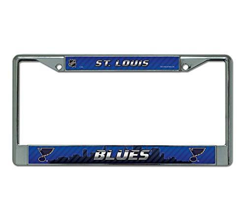 Rico Industries NHL St. Louis Blues Standard Chrome License Plate ()