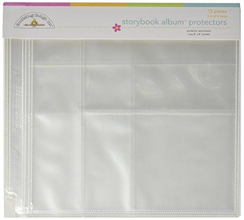 Assortment Scrapbooking - Doodlebug Design Protector Assortment for Scrapbooking, 8 by 8-Inch
