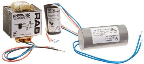 RAB Lighting BHPSH150QT High Pressure Sodium Ballasts Kit, 150W Power, Quad Tap