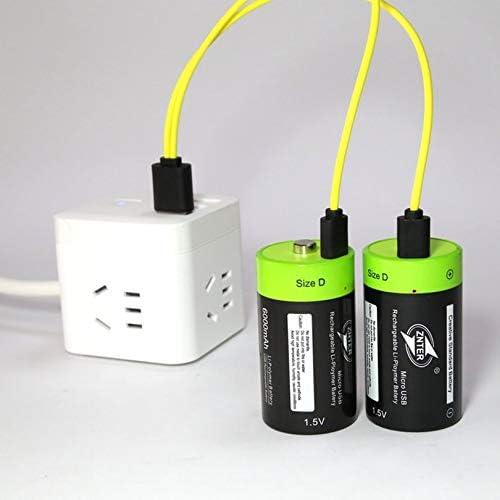 ZicHEXING-US ZNTER ZNT1-1 1pcs//2pcs 1.5V 4000mAh USB Rechargeable D Battery Lithium Polymer 2pcs