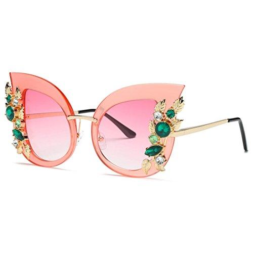 Lunettes de Soleil Ansenesna Lunettes de soleil Femme, Vintage Oeil de chat Lunettes de soleil Pour Femme Mirror Designer B