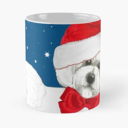 Bichon Frise Christmas Santa Hat - 11 Oz Coffee Mugs Ceramic The Best Gift For Holidays, Item Use Daily